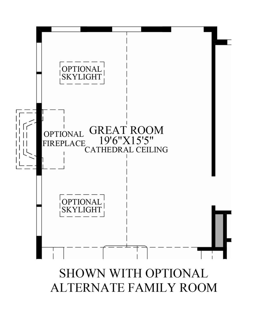 Optional Alternate Family Room Floor Plan