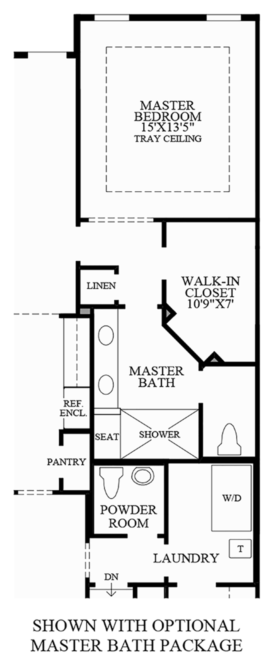 Optional Master Bath Package Floor Plan