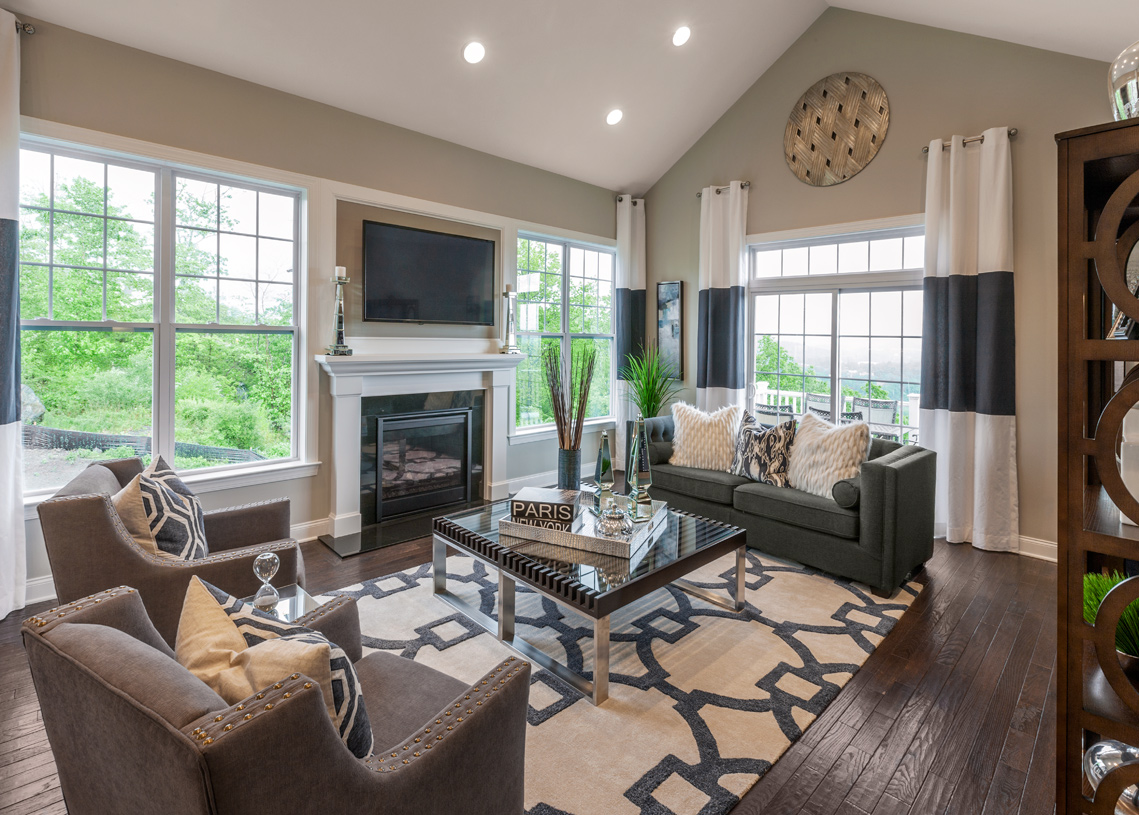 Great room with optional fireplace