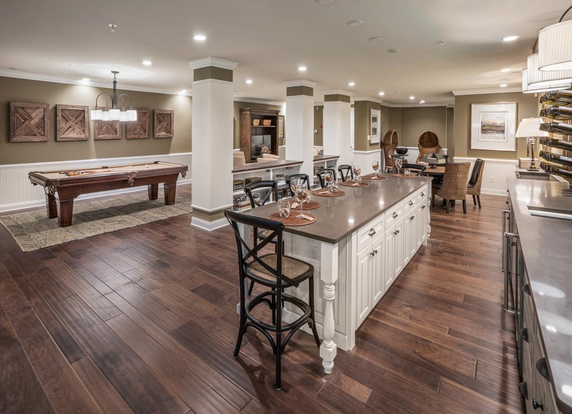 Finished basement provides additional entertaining space