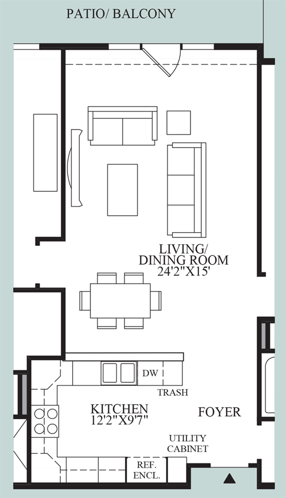 Patio/Balcony Floor Plan