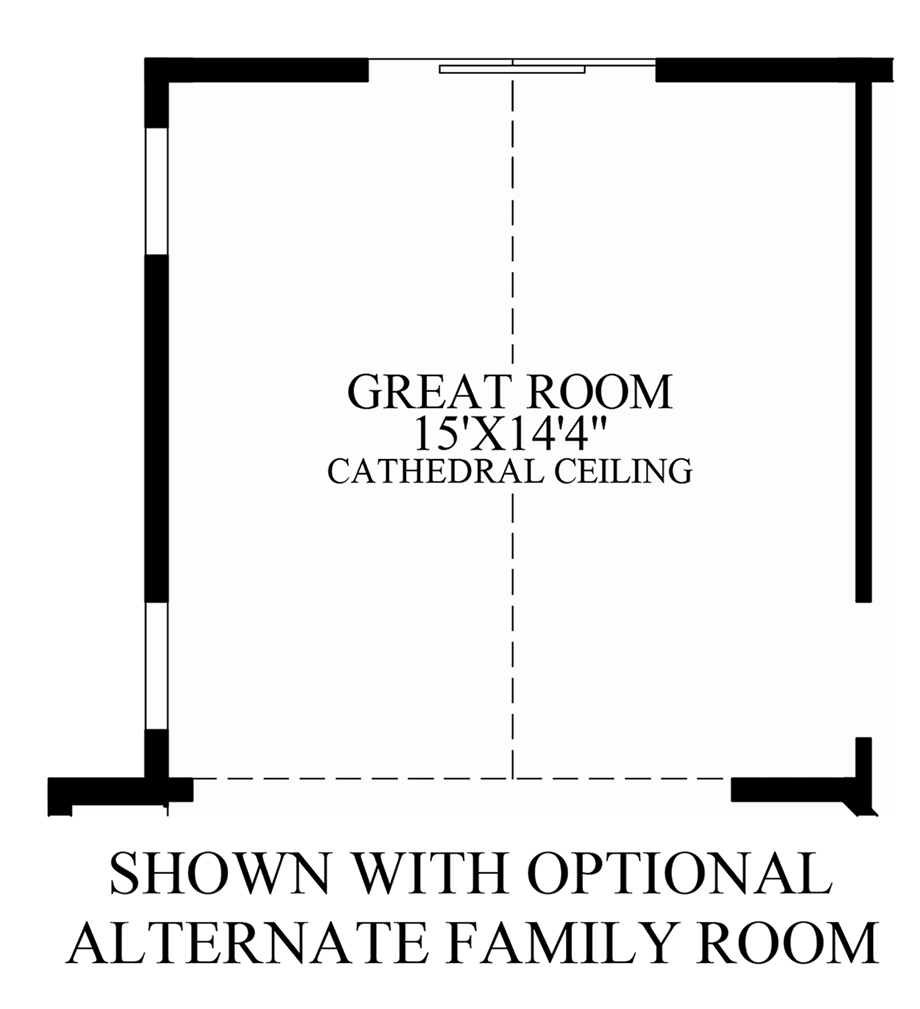 Optional Alternate Family Room Floor Plan