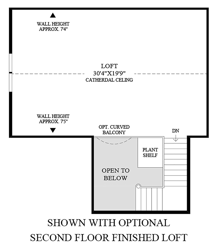 Optional Finished Loft & 4th Bedroom Floor Plan