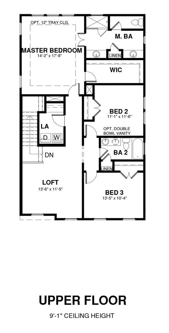 Upper Floor Floor Plan