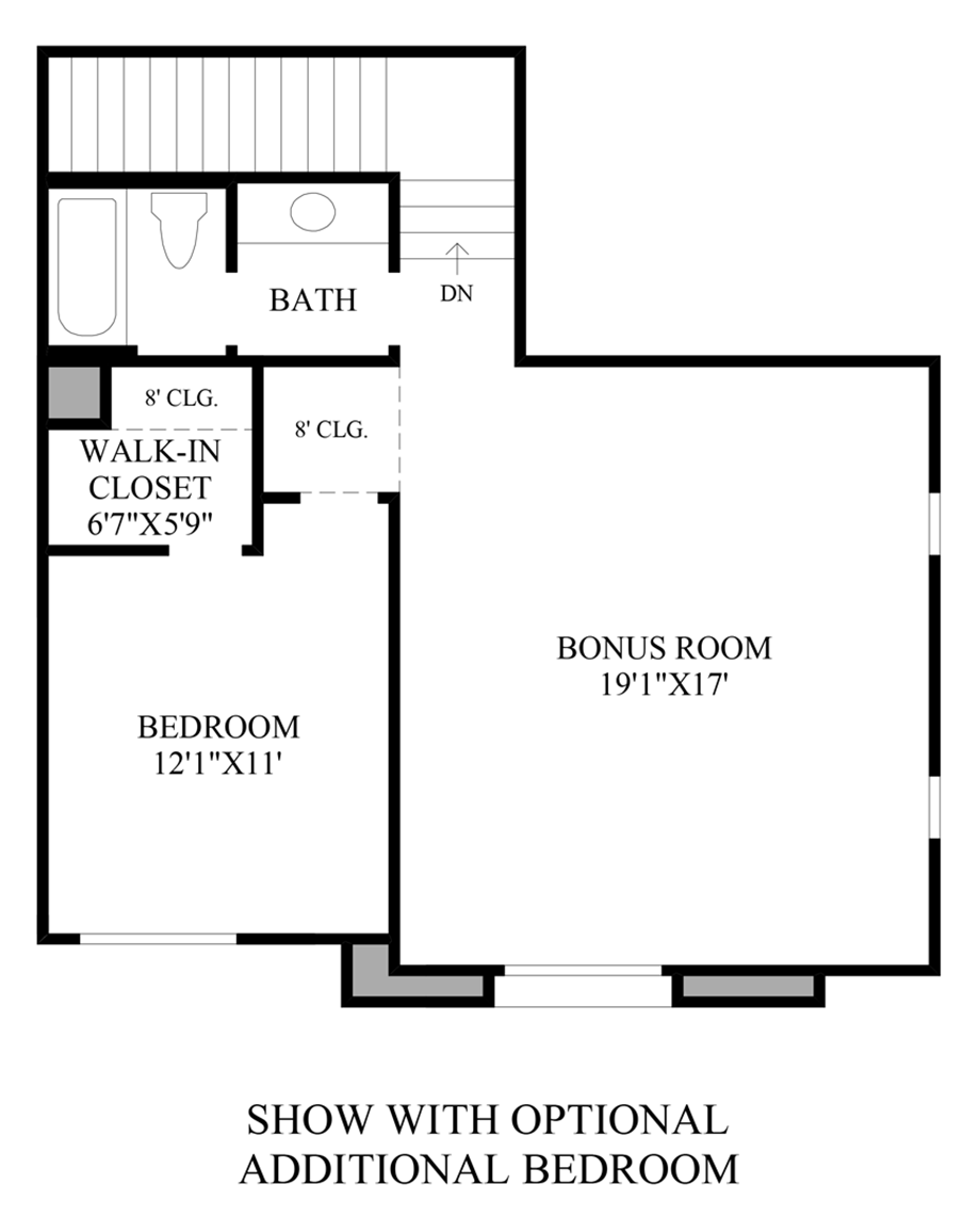 Optional Additional Bedroom Floor Plan