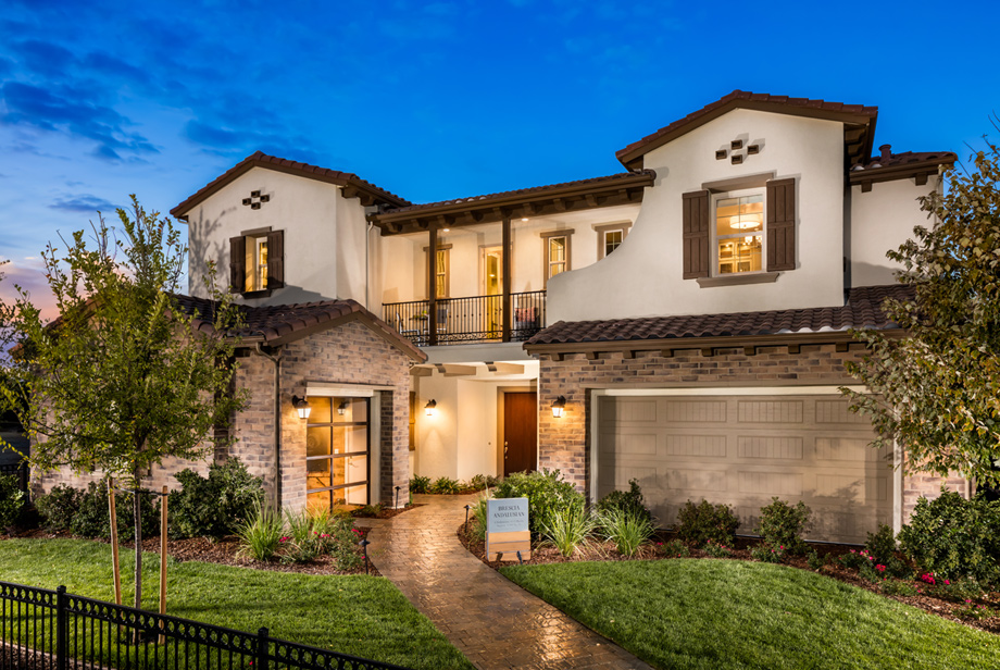 N Home Elevation Hours : Pinnacle at serrano the brescia home design