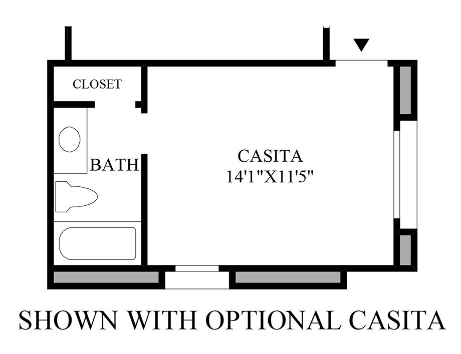 Optional Casita Floor Plan
