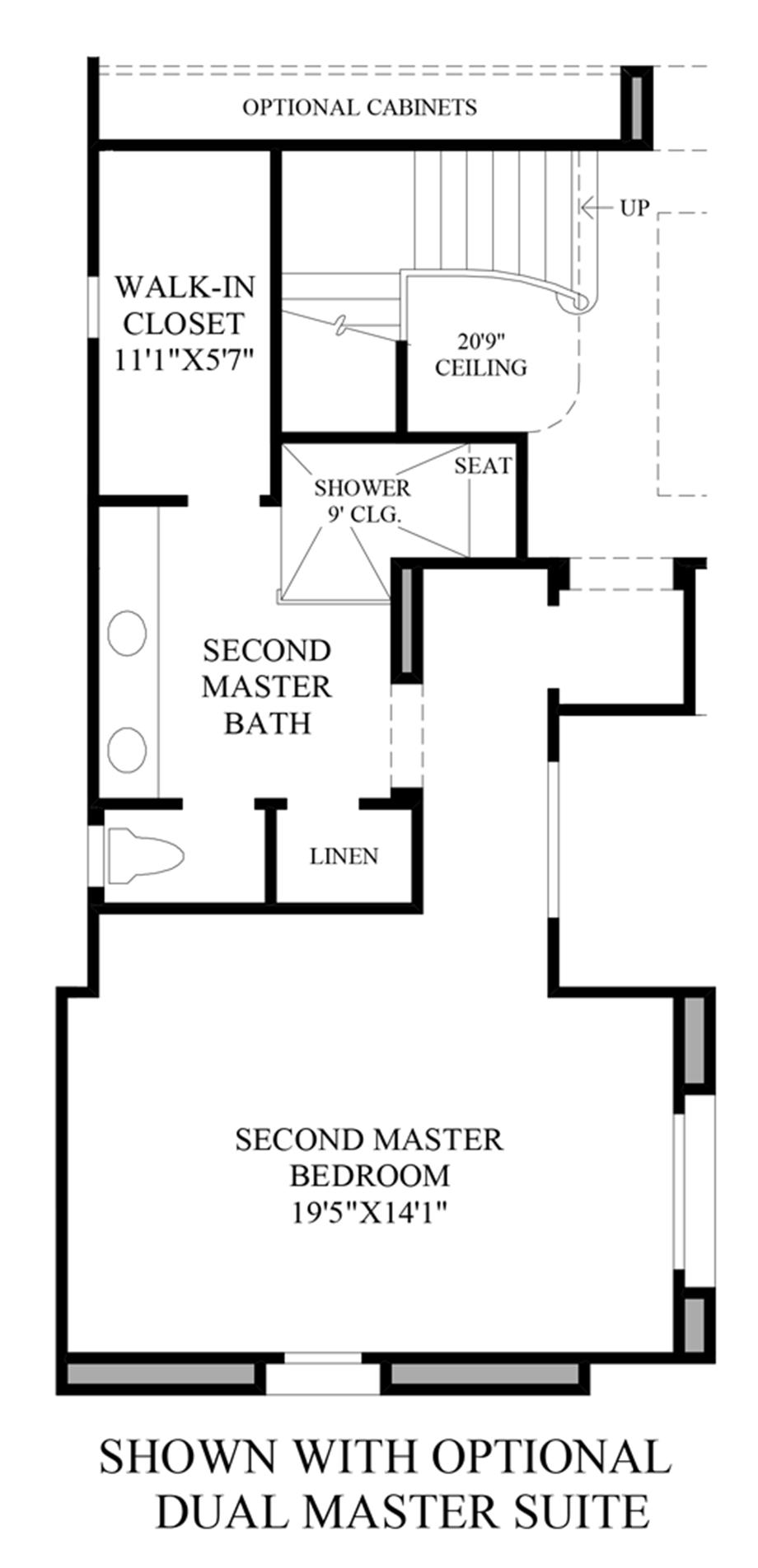 Optional Dual Master Suite Floor Plan