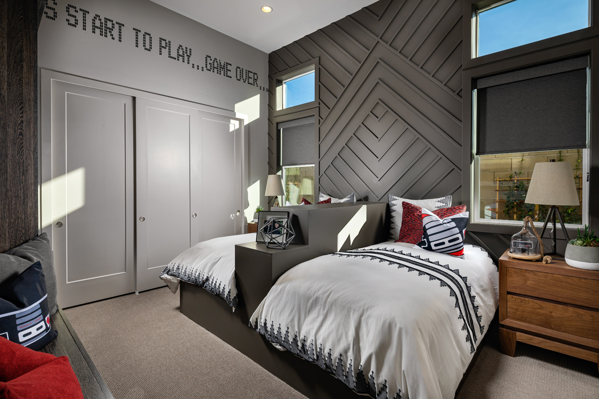 Generous secondary bedroom with sizable closets