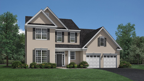 Image of the Bridleridge home design with tan siding located in the Regency at Monroe Community