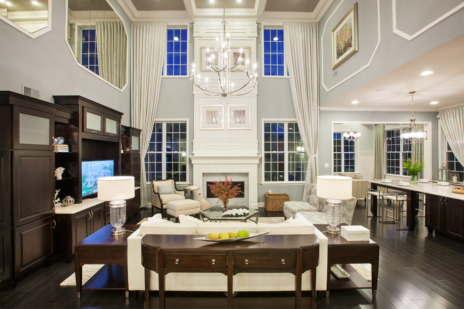 Awesome 2 Story Family Room Decorating Ideas Part - 10: Bridleridge Two-Story Family Room