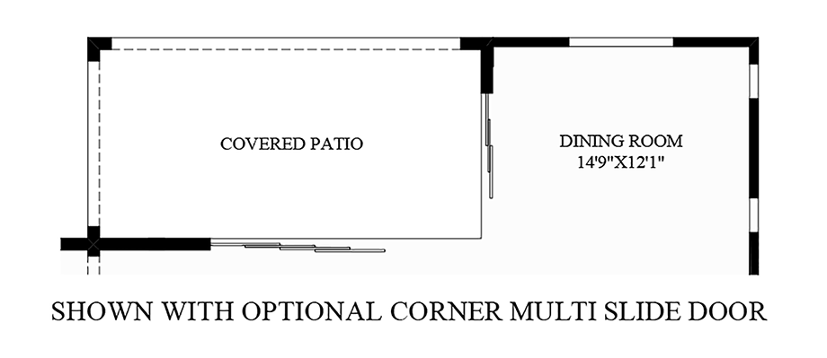 Optional Corner Multi Slide Door Floor Plan