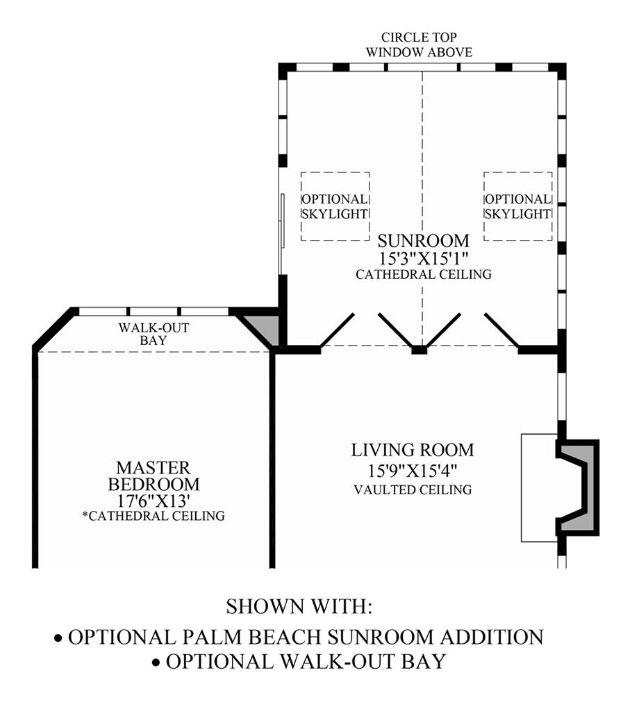 Optional Palm Beach Sunroom Addition/Walk-Out Bay Floor Plan