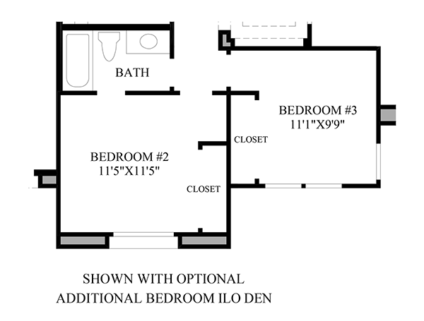 Optional Additional Bedroom ILO Den