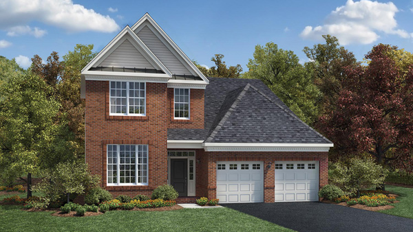 Image of the Bronson home design with brick finish located in the Regency at Monroe Community