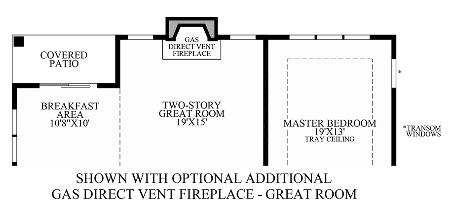 Optional Additional Gas Direct Vent Fireplace (Great Room) Floor Plan