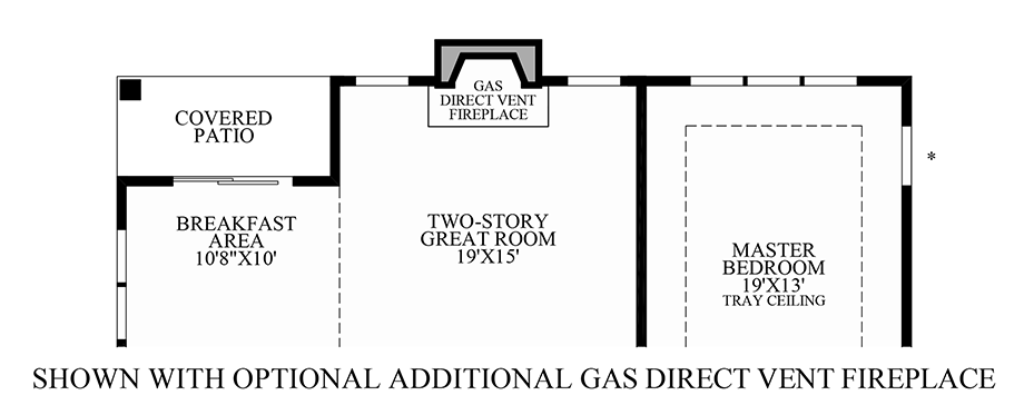 Optional Additional Gas Direct Vent Fireplace Floor Plan