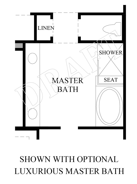 Optional Luxurious Master Bath Floor Plan