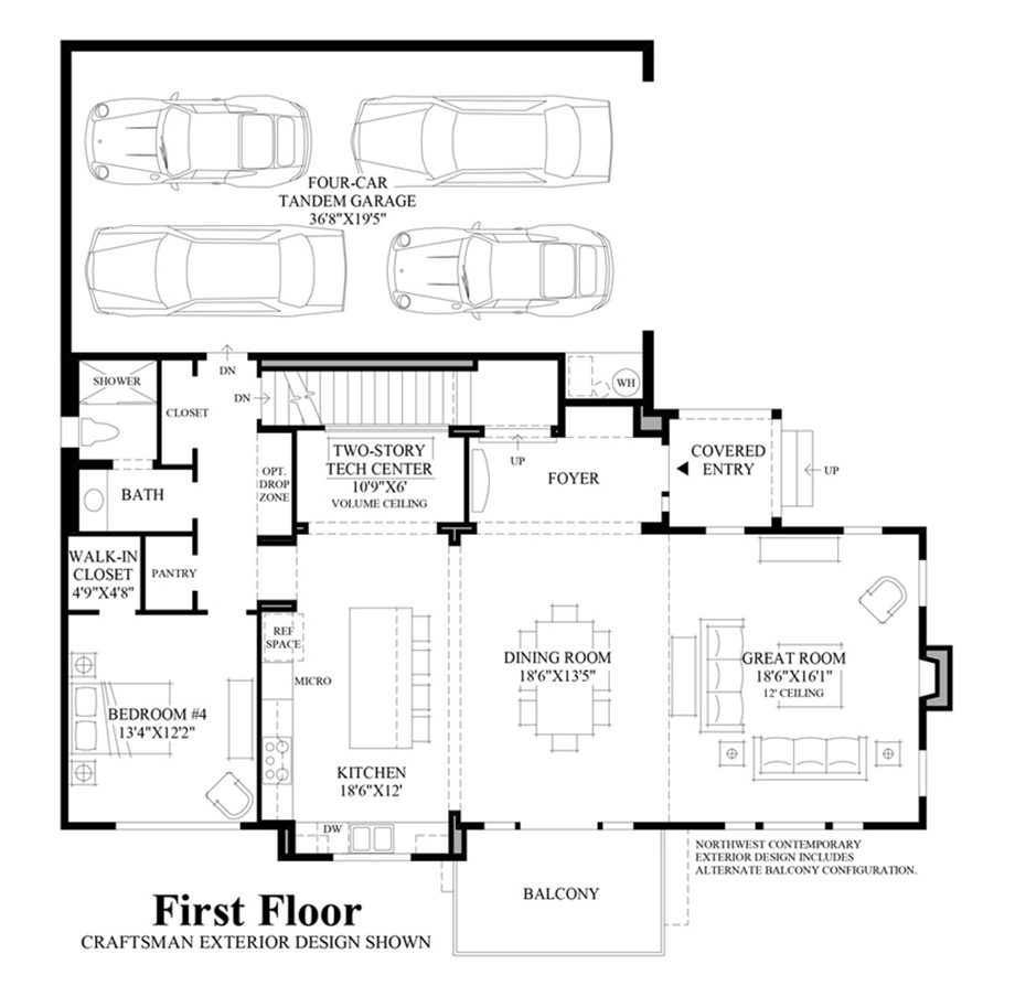 Belvedere at bellevue quick delivery home brothers for Washington house plans