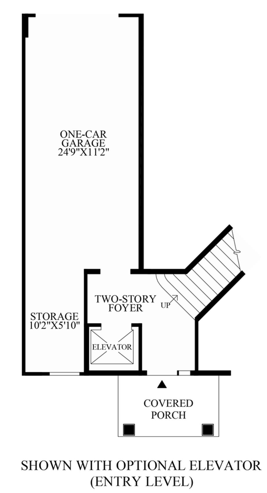 Optional Elevator (Entry Level) Floor Plan