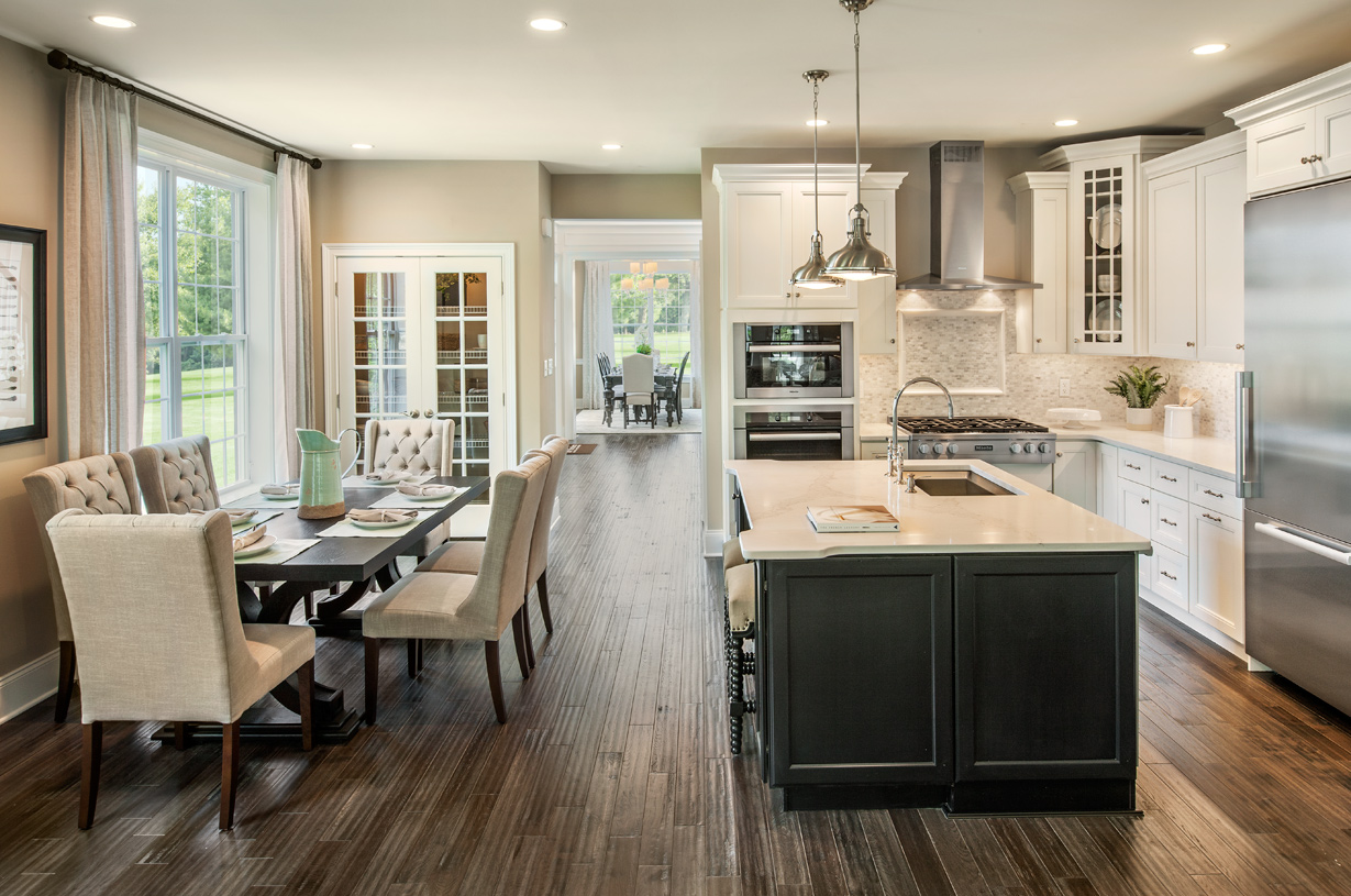 Well-appointed kitchen with casual dining area