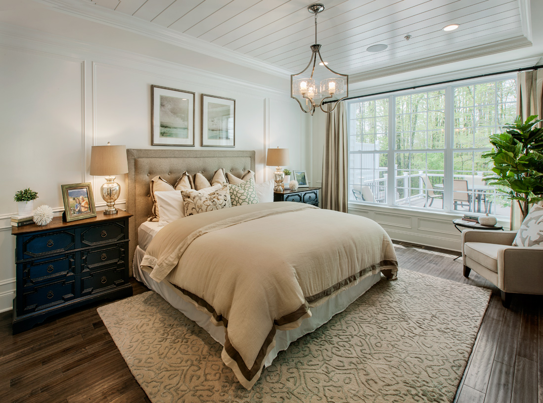 First-floor primary bedroom suite