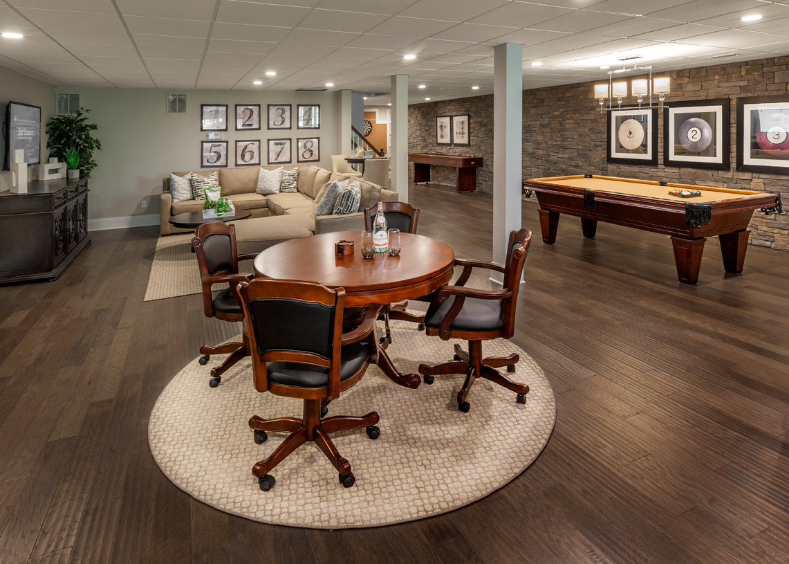 Finished basement adds additional living space