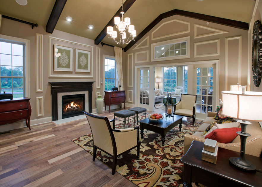 Liseter the st davids collection the heatherwood home - Vaulted ceiling living room ideas ...