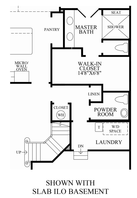 Optional Slab ILO Basment Floor Plan