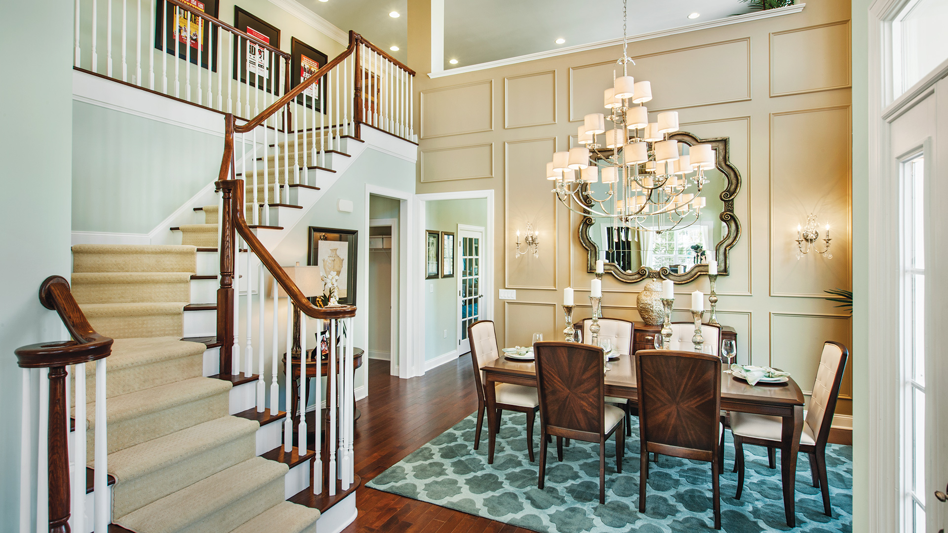 Two Story Foyer And Formal Dining Room