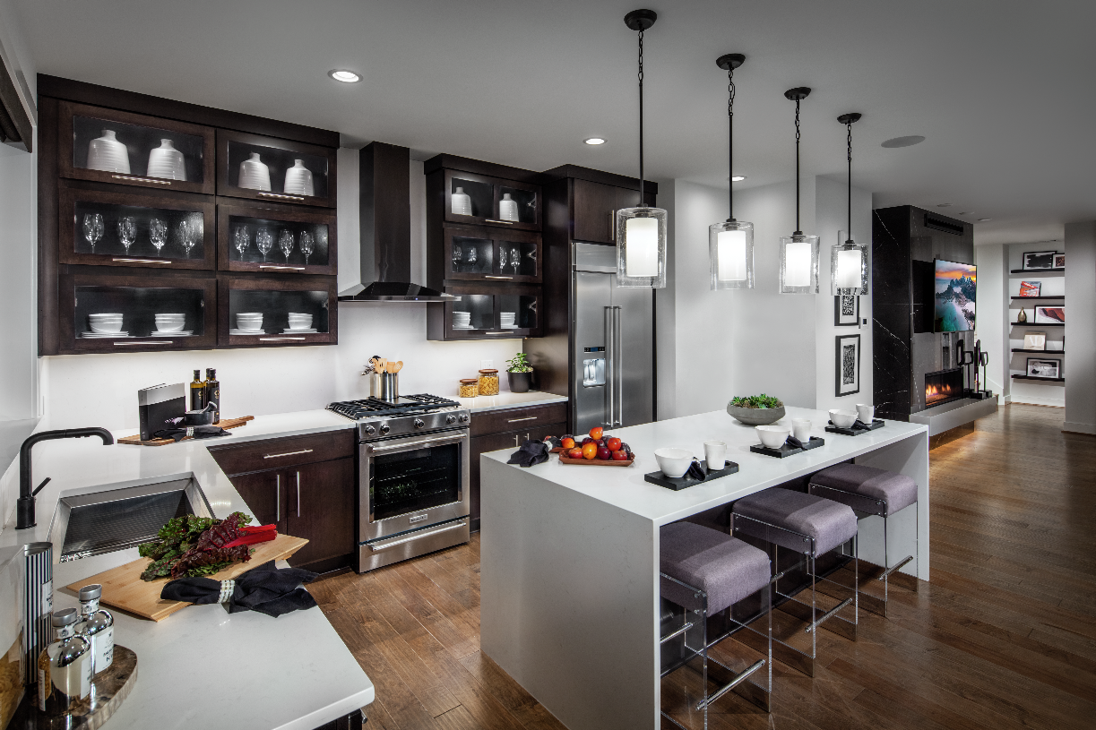 Well designed kitchen with plenty of countertop space