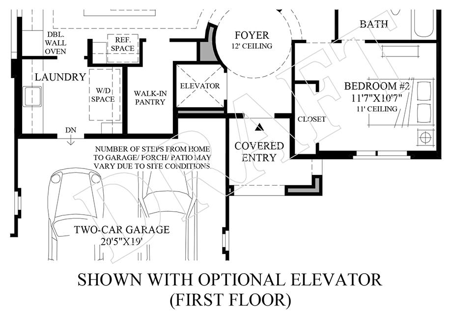 Optional Elevator (1st Floor) Floor Plan