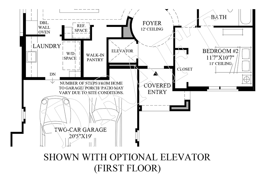 Optional Elevator (1st Floor) Floor Plan