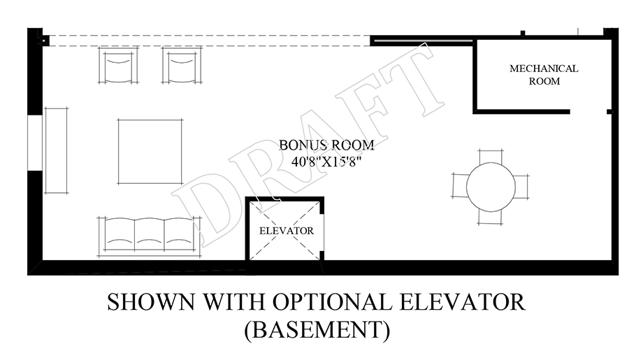 Optional Elevator (Basement) Floor Plan