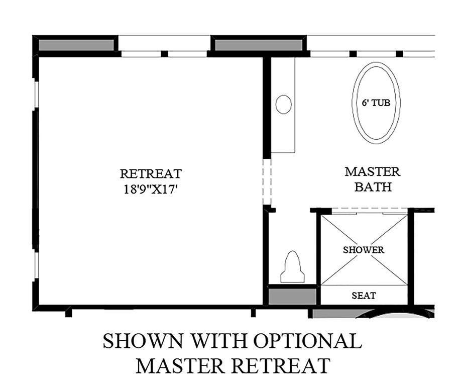 Optional Master Retreat Floor Plan