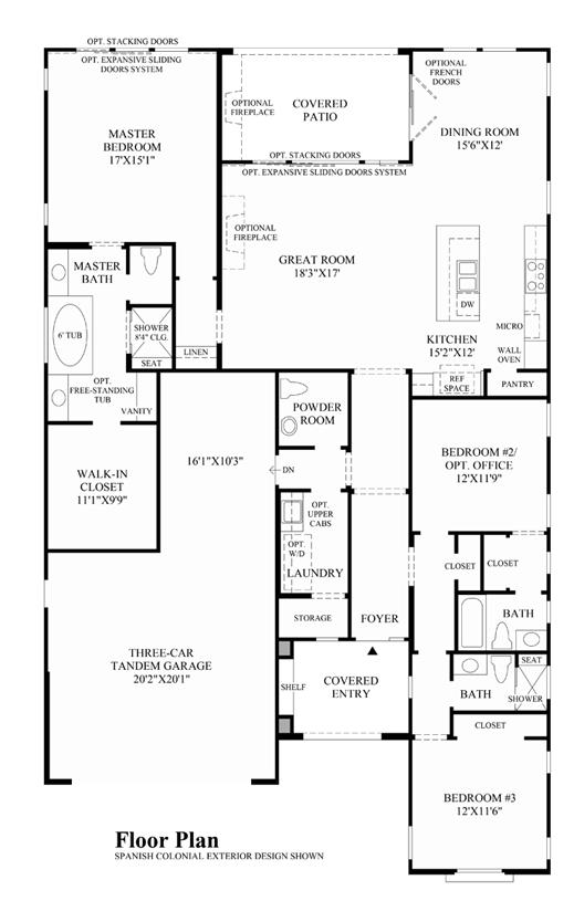 Calabria (CA) - Floor Plan