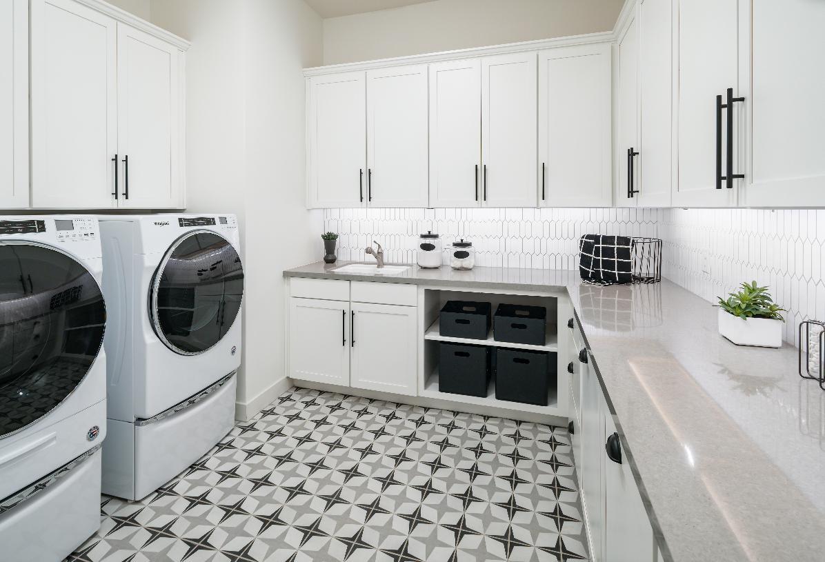 Roomy laundry room with plenty of storage