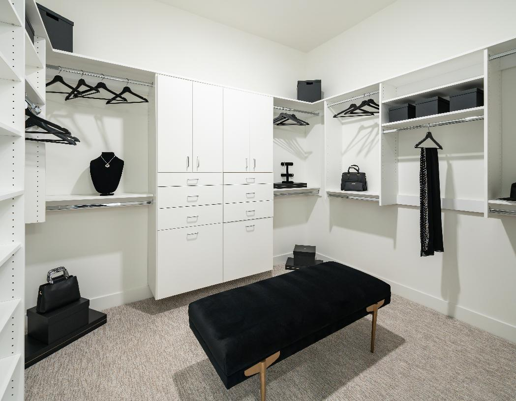 Large primary bedroom walk-in closet