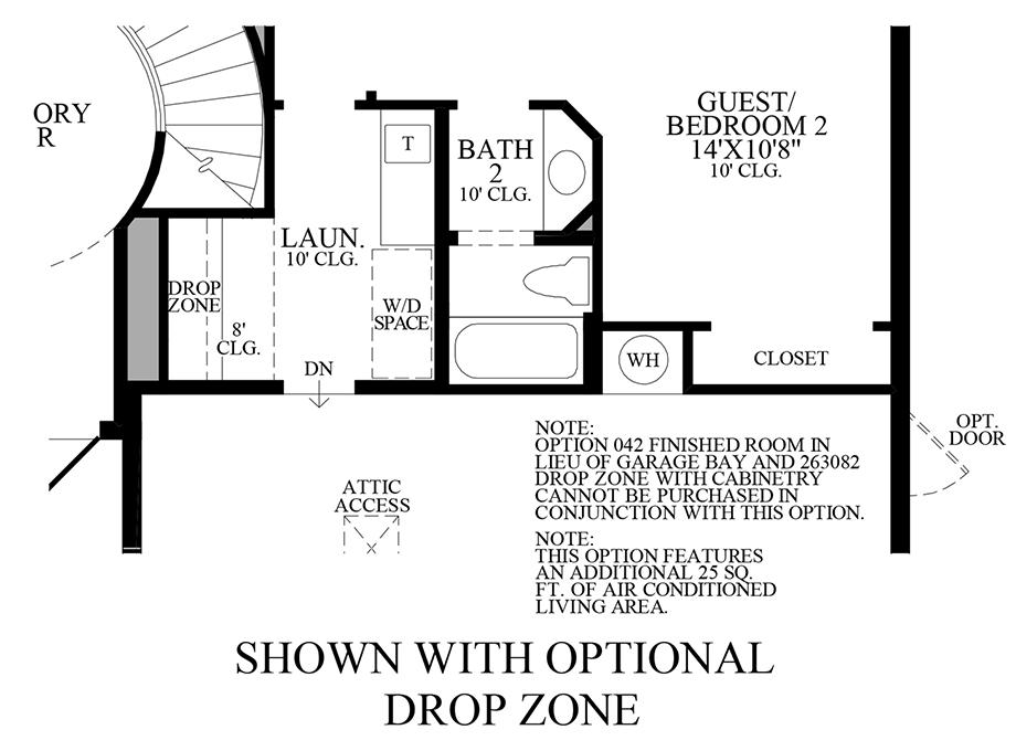 Optional Drop Zone Floor Plan