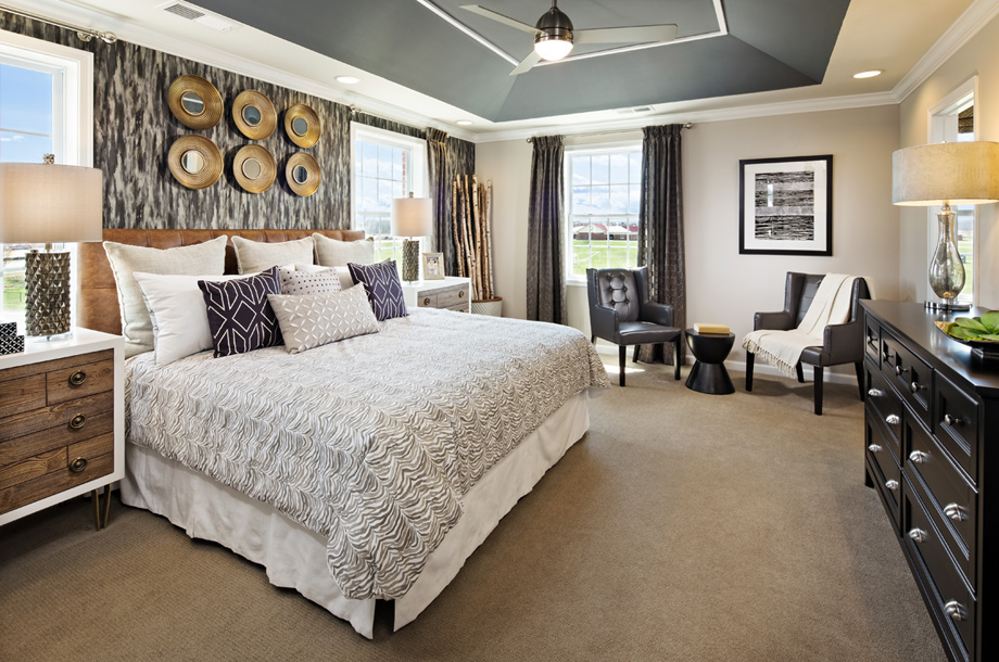 Ashburn va townhomes for sale loudoun valley the fairmont for Model home master bedrooms