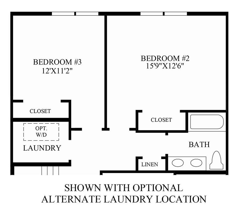 Optional Additional Bedroom/Bath Floor Plan