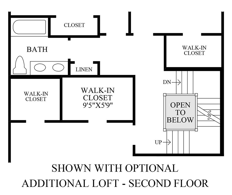 Optional Additional Loft - 2nd Floor Floor Plan