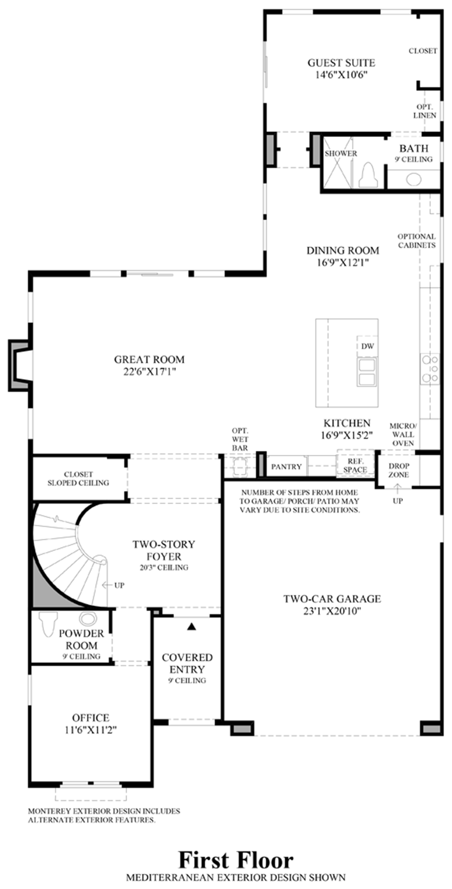 The knolls at tassajara hills the canterbury home design Canterbury floor plan