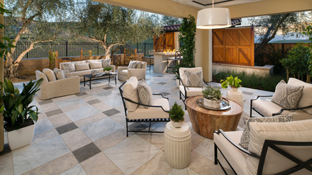 Covered Outdoor Luxury Living Room