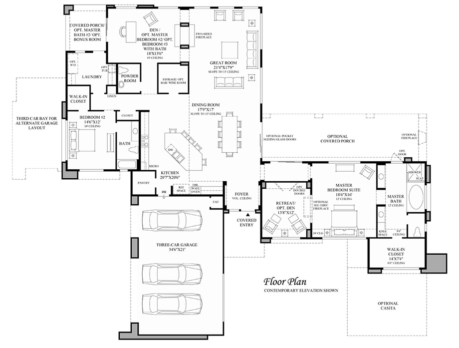 California luxury new homes for sale by toll brothers for Capri floor plan