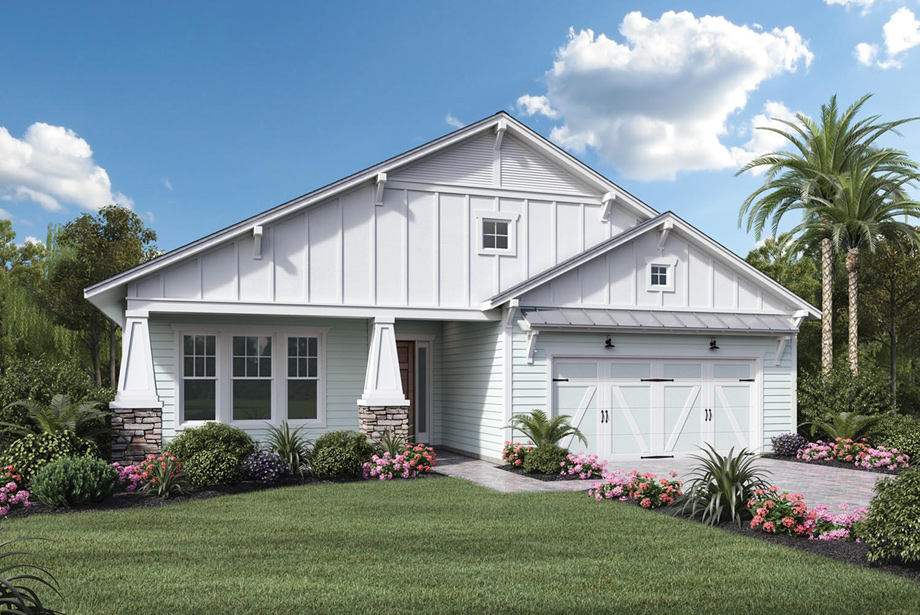 Coastal oaks at nocatee heritage collection the for Craftsman homes for sale in florida