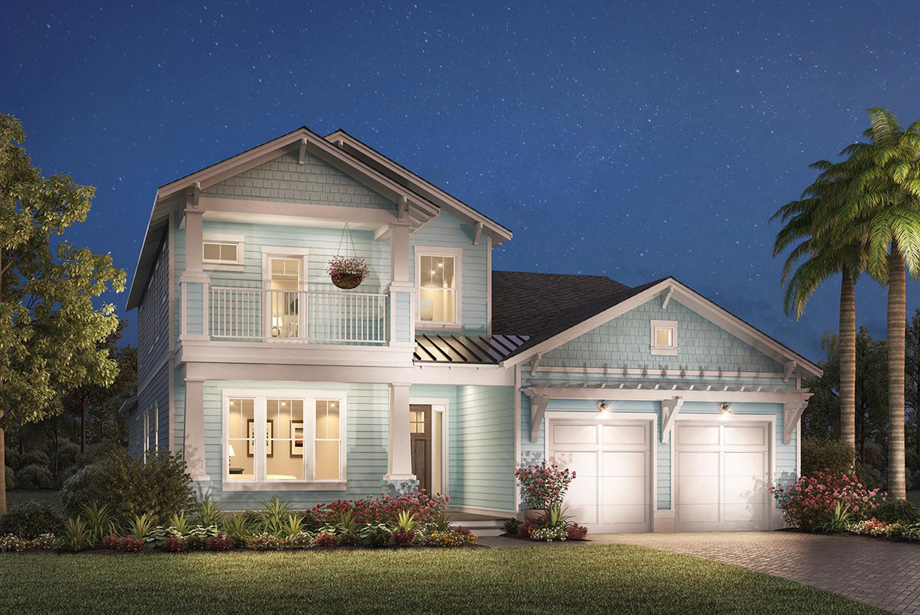 Toll brothers at atlantic beach country club legacy for Beach house elevations