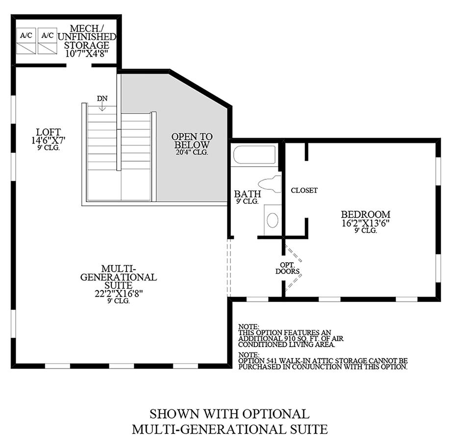 Optional Multi-Generational Suite Floor Plan