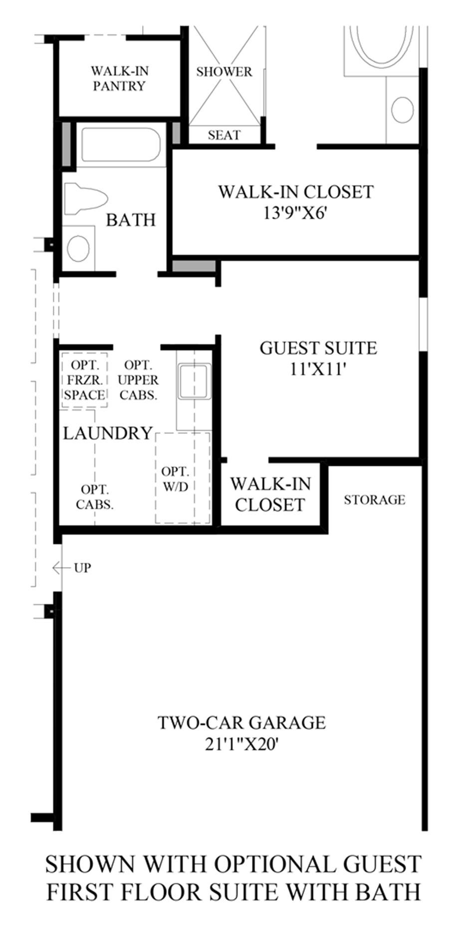 Optional Guest Suite w/ Bath (1st Floor) Floor Plan