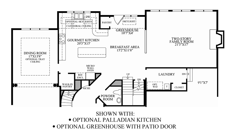 Dominion valley country club estates the carlton home for Dominion homes floor plans
